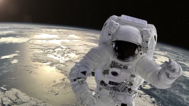 Astronaut  above the Earth.