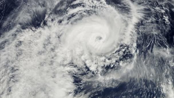 Der Hurrikan über dem Ozean, Satellitenaufnahme