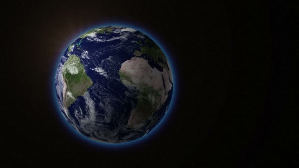 Erde rotiert mit der Sonne. v.1.