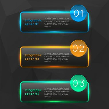 Infographics options banners collection set