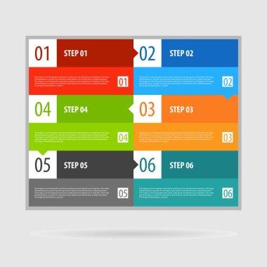 Infographics options banner steps set