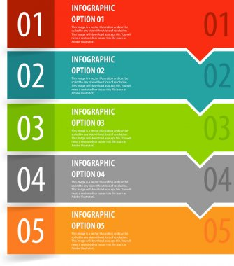 Infographics options banner steps.