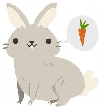 Rabbit illustration mascot.