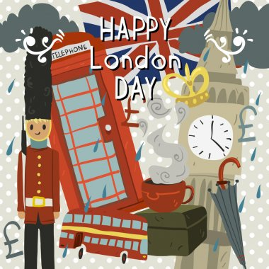Happy London Day greeting card.