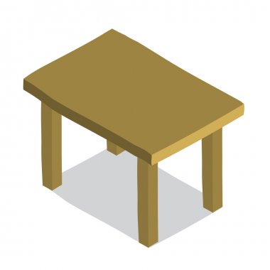 hand drawn Table icon.