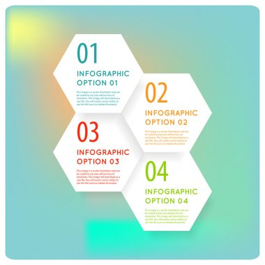 hexagon modern infographics