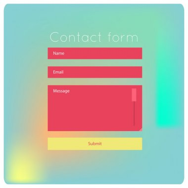 contact us form modern templates