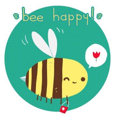 Bee happy postcard