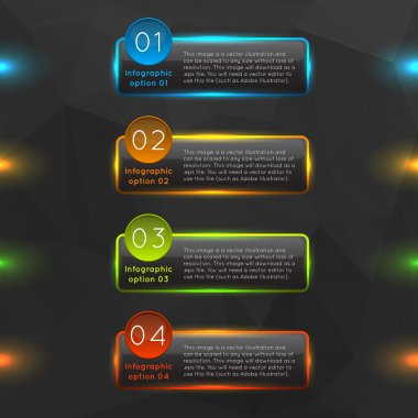 glass infographics options banners