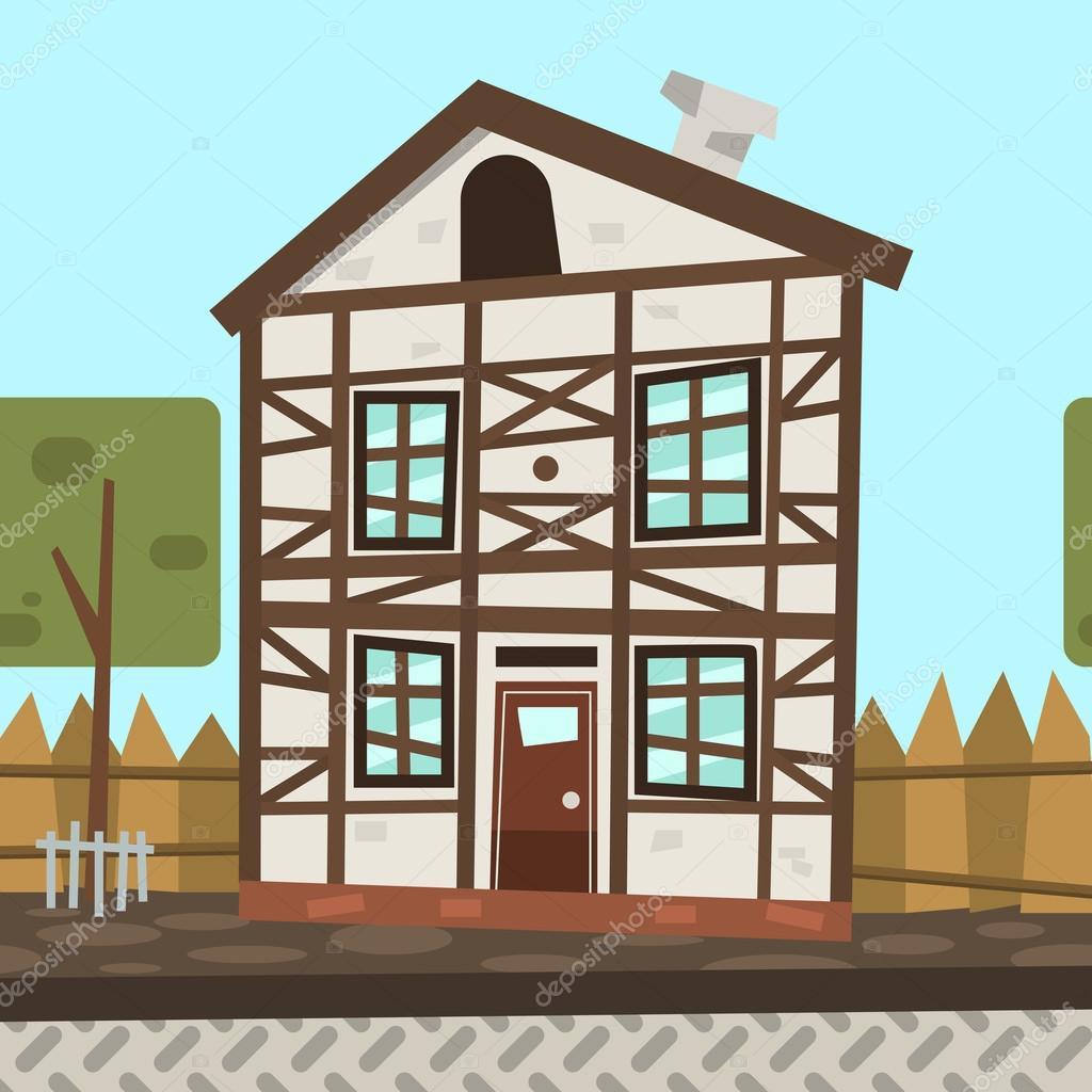Desenhos animados casa alemanha vetores de stock for House of 950