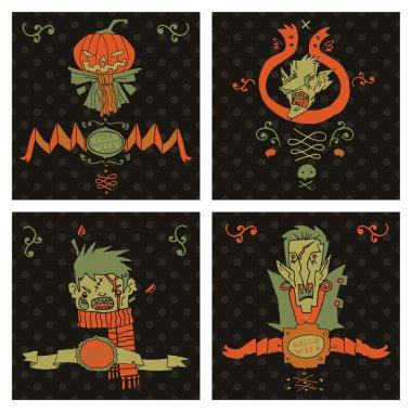 Halloween postcard invitation.