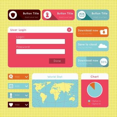 simple flat modern UI design