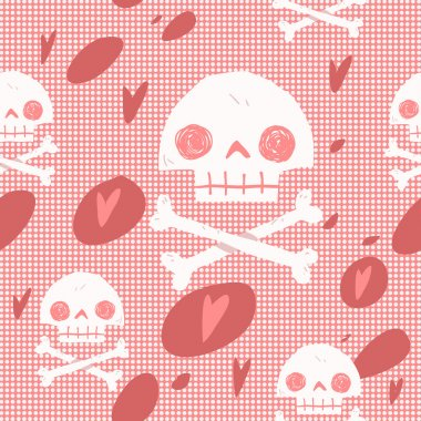 cartoon skull seamless background