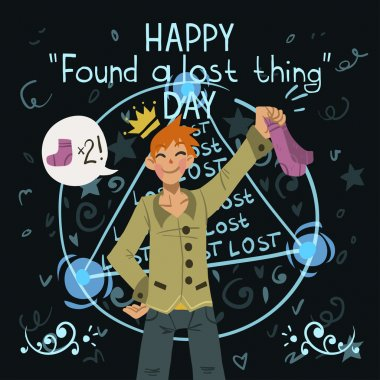 lost thing day greeting card