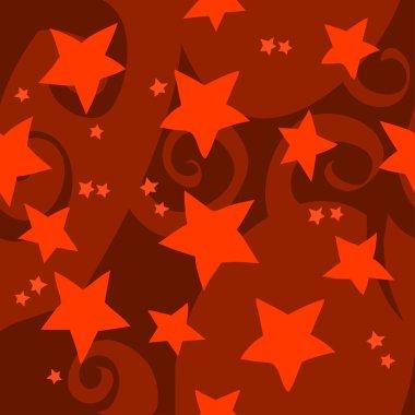Cartoon red stars pattern.