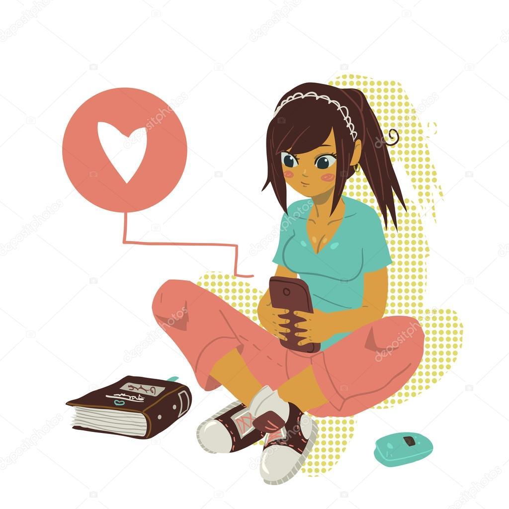 La muchacha adolescente folla haciendo tareas