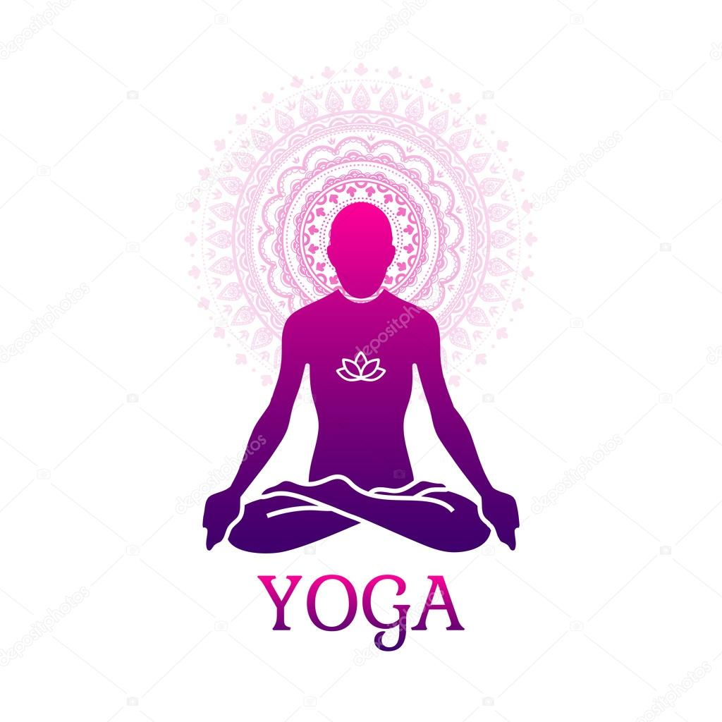 Yoga Zeichen Symbol Stockvektor Moryachok 100598586