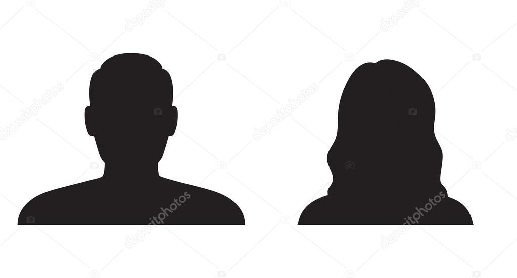 Silueta Hombre Y Mujer