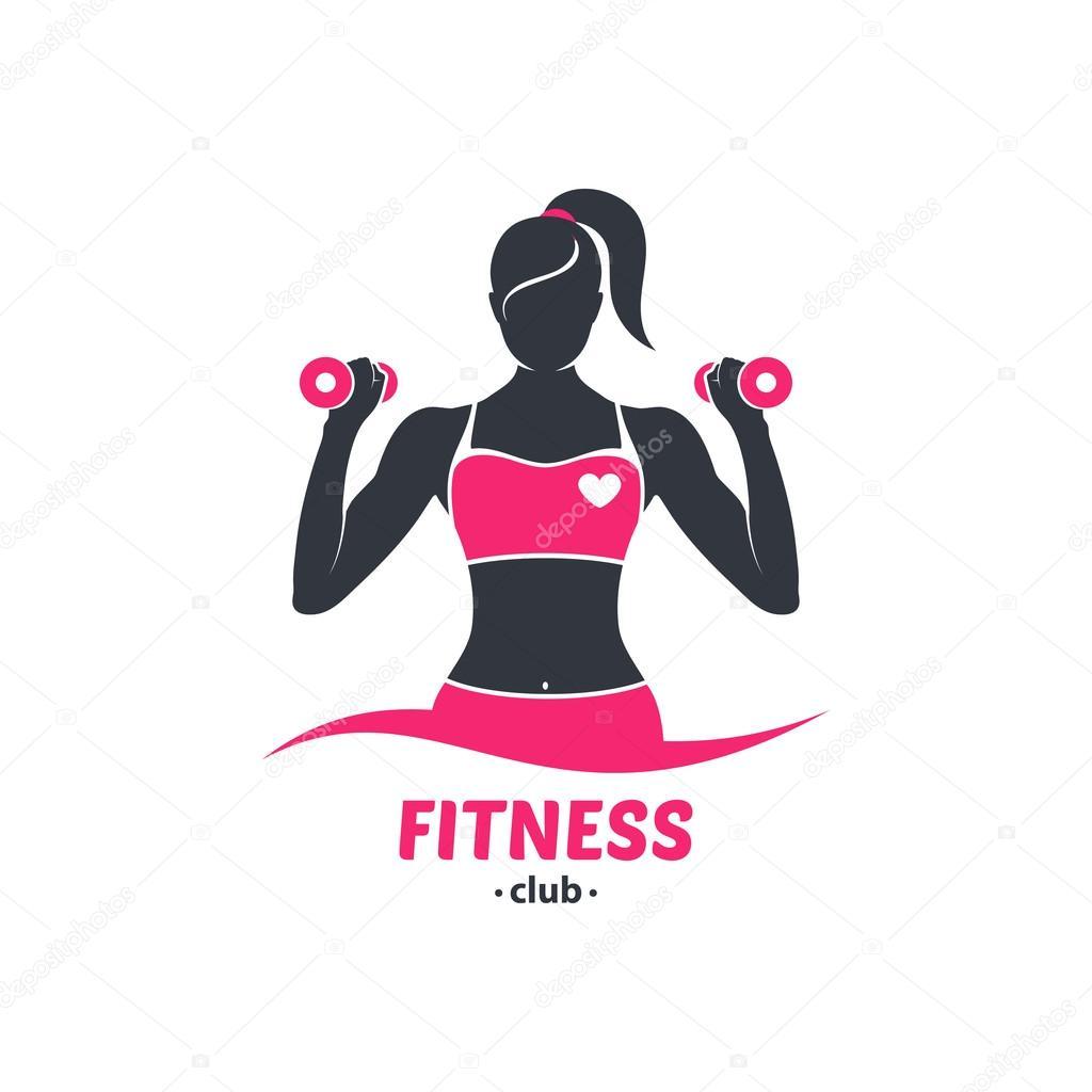 logo fitness girl silhouette � stock vector 169 moryachok