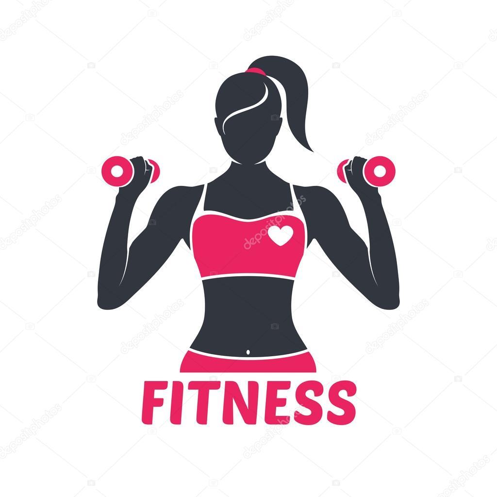 Logo Fitness Girl Silhouette Stock Vector 169 Moryachok 101739870