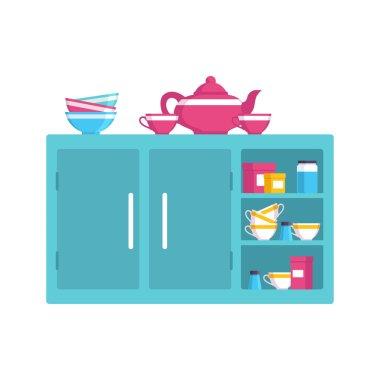 Green kitchen cabinet