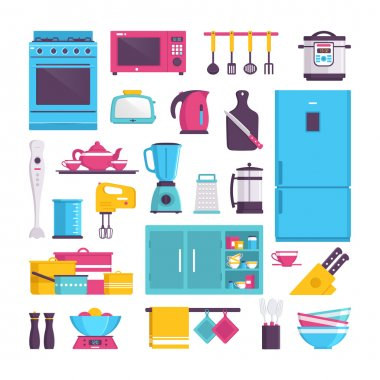 Appliances for kitchen  icons
