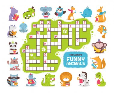 crossword with animals for kids