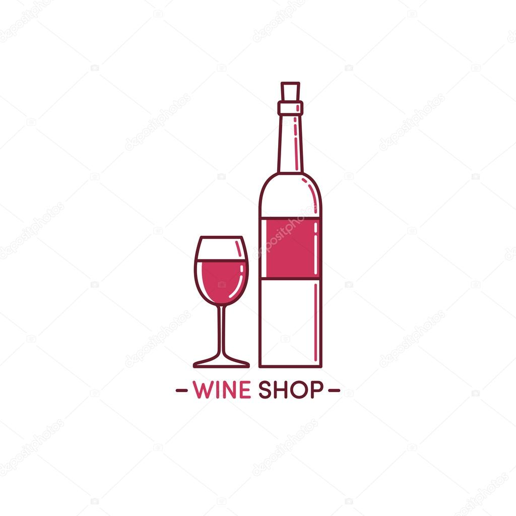 logo vino e vetro � vettoriali stock 169 moryachok 108261746