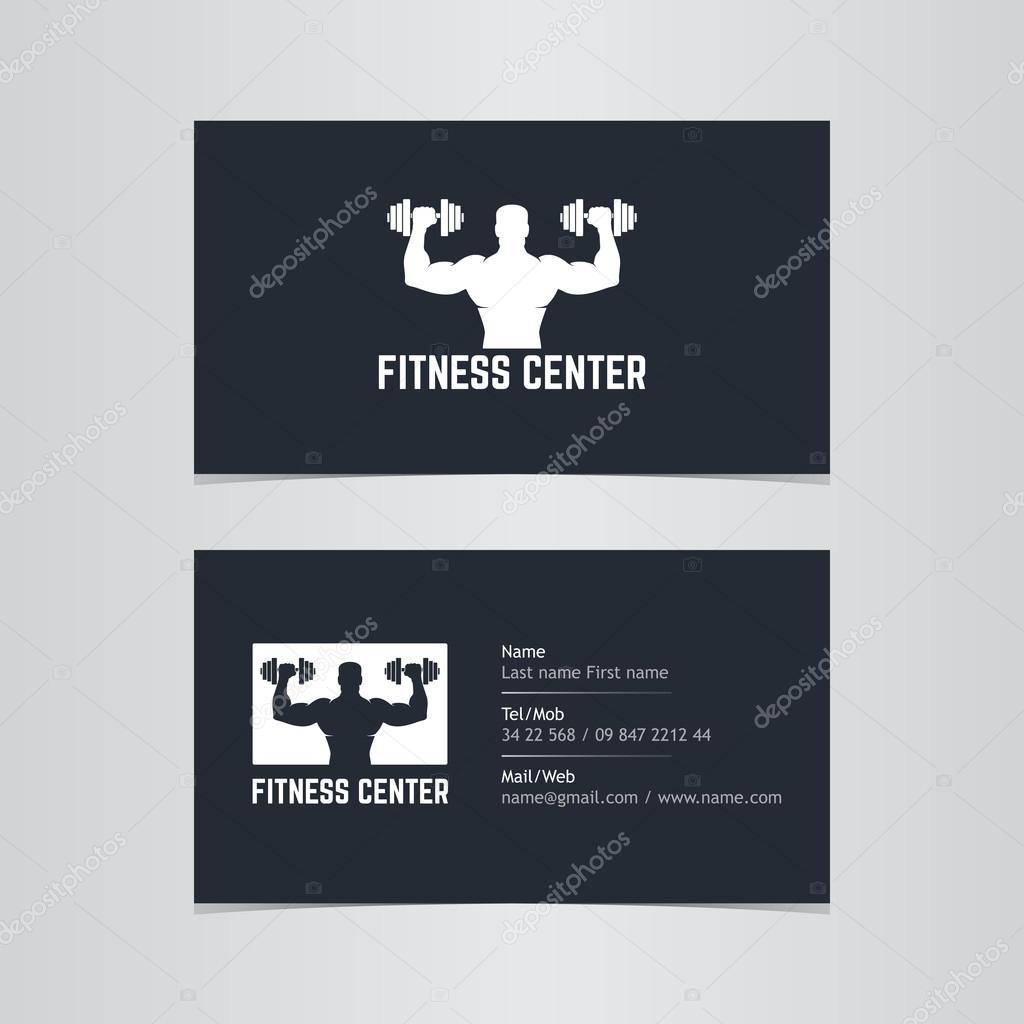 Business card fitness — Stock Vector © moryachok_ #108348532
