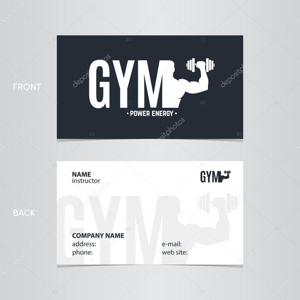 Business card gym — Stock Vector © moryachok_ #108348542