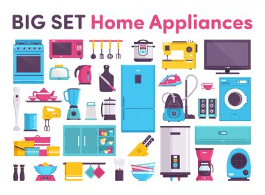 Icons home appliance