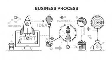 Illustration Business process
