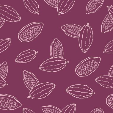 Vector pattern cacao