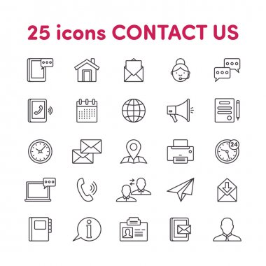 Icons contact us