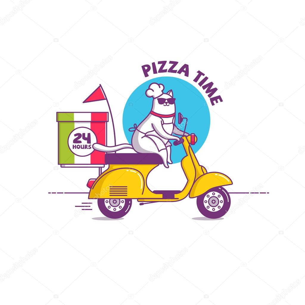 Illustration Pizza Time