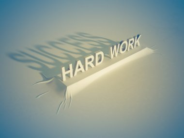 Hard work Success