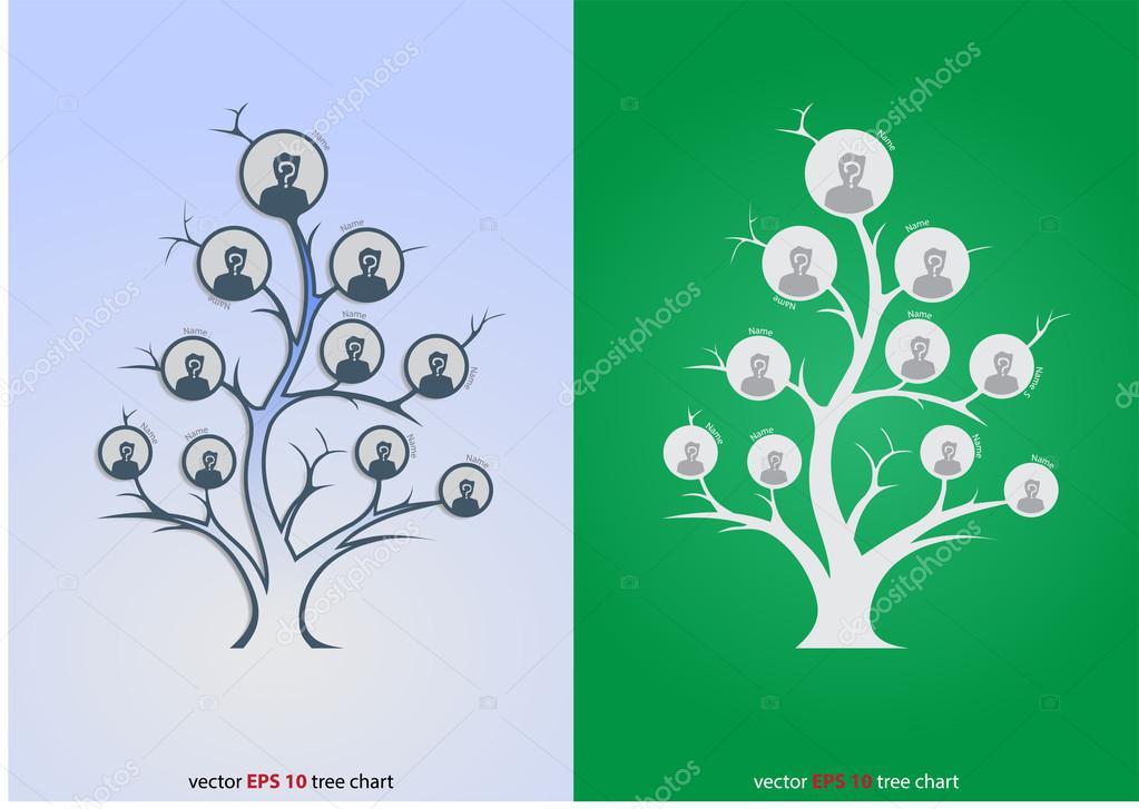 Glowing Tree Organizational Chart Stock Vector C Neode 73232573