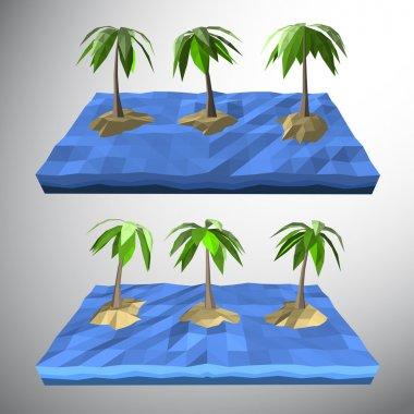 loe poly Palm tree