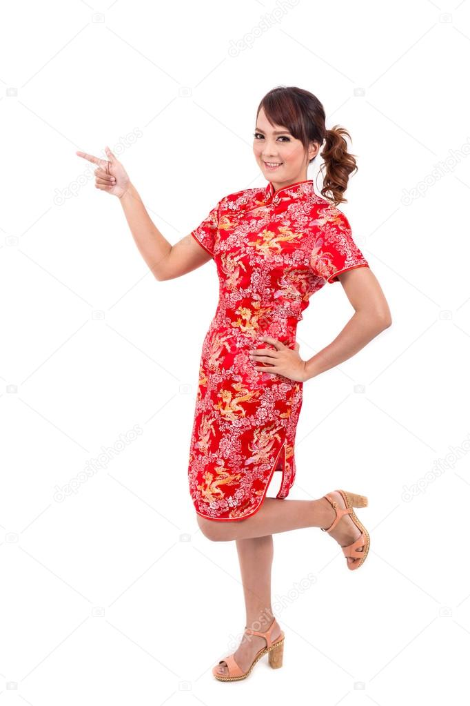 Asian chinese girl greeting in traditional chinese chinese new asian chinese girl greeting in traditional chinese chinese new year enjoy happy photo by powerbee photo m4hsunfo