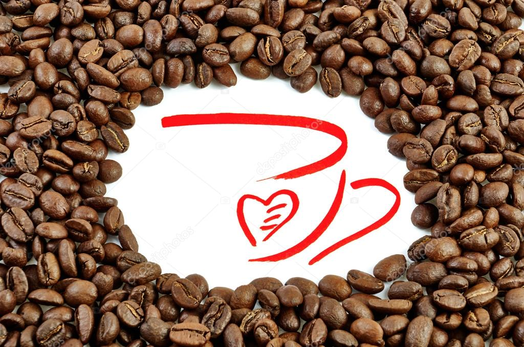 Dibujos: Hechos Con Granos De Cafe