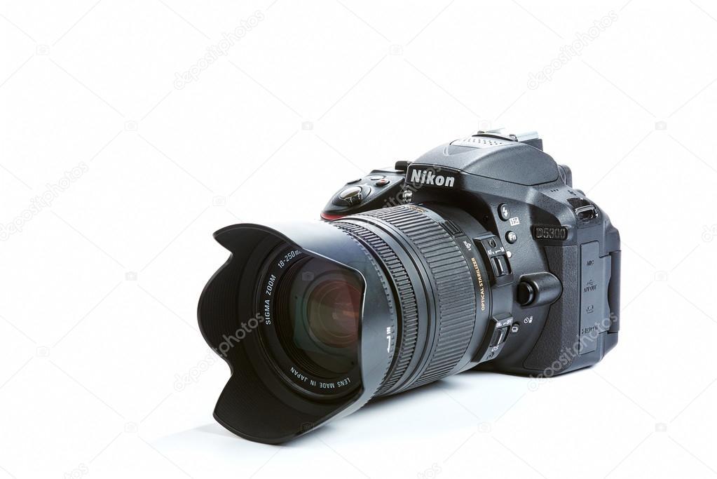 シグマのレンズとニコン d5300 デジタル一眼レフ カメラ ストック編集