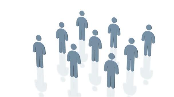 Netzwerk Menschen 3D-Grafiken