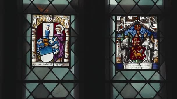 Stained glass windows in the castle Hohenzollern