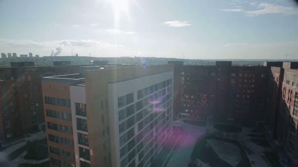 Pohled z bytu budov