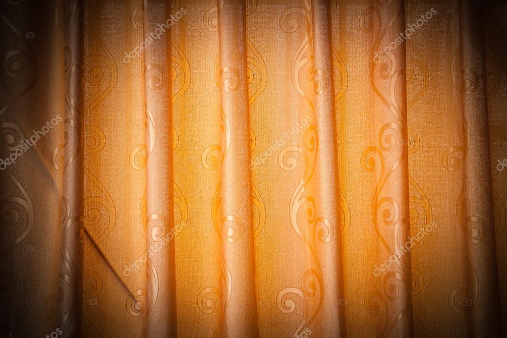 fel verlicht oranje gordijnen — Stockfoto © wittayabudda #53508515