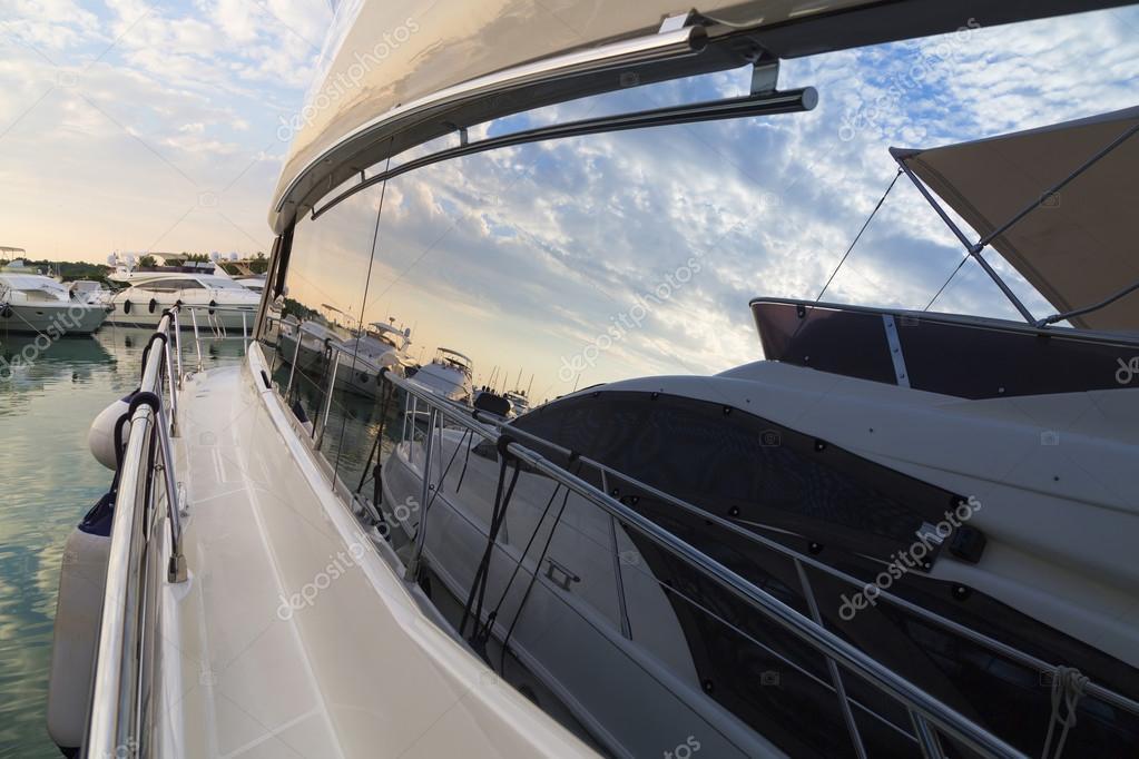 Super Yachts moored at Sukosan Harbor near Zadar, Croatia