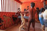Wewurukannala vihára poblíž Dikwella, biblické výjevy, punishm