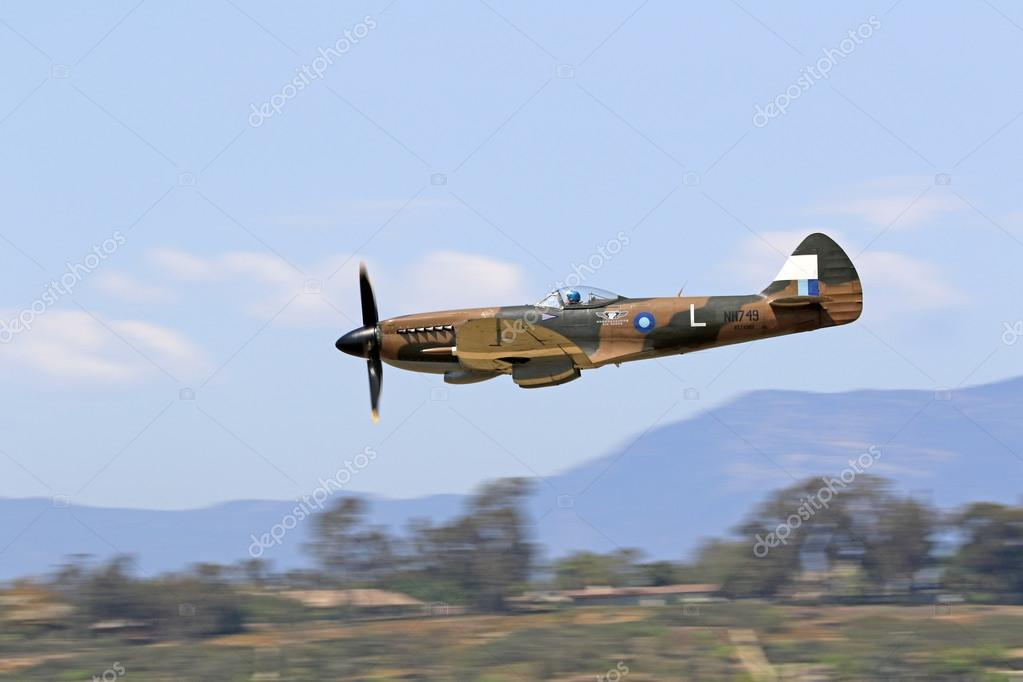 Airplane Vine Wwii Spitfire Stock Photo 55627688