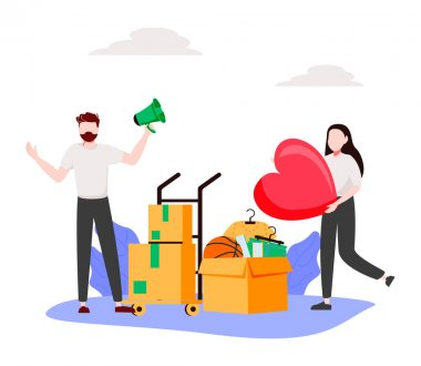 Help people abstract concept vector illustration. Refugees, volunteering and social services, asylum seeker, immigration, welfare and child support, community organization abstract metaphor. icon
