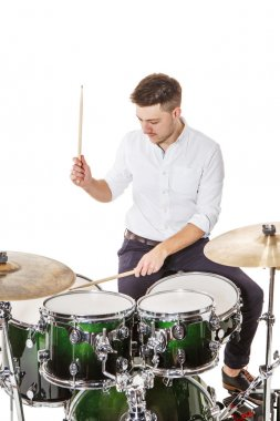 Male player on drums